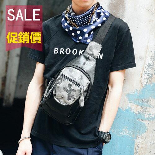 <br/><br/> PocoPlus 新款迷彩休閒包 小胸包 夏季潮流背包 韓版男包男士胸包挎包潮包 B1162<br/><br/>