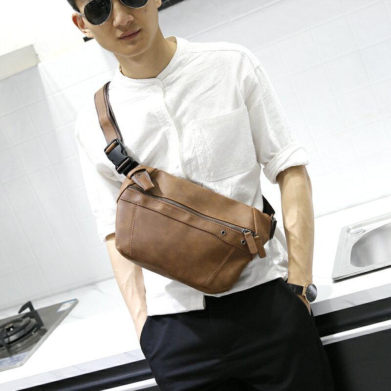 PocoPlus 新款胸包男士大容量斜挎包包韓版運動休閒背包單肩包潮流 B1267