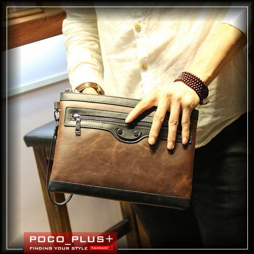 PocoPlus 韓版手拿包 信封包 手抓包 文件包 休閒雅痞 李敏鋯 明星款手拿包【B404】