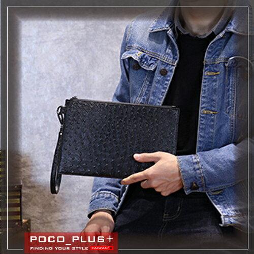 PocoPlus 新款韓版潮流 單肩斜跨包 手拿包 毛呢 文件包 潮流款包 手提包【B531】