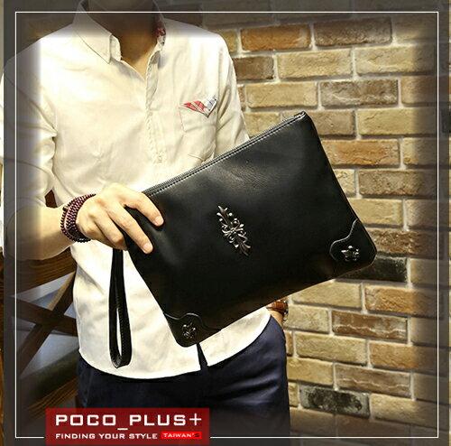 PocoPlus 韓版男士軟皮手拿包 時尚休閒包 男包 公事包【B615】