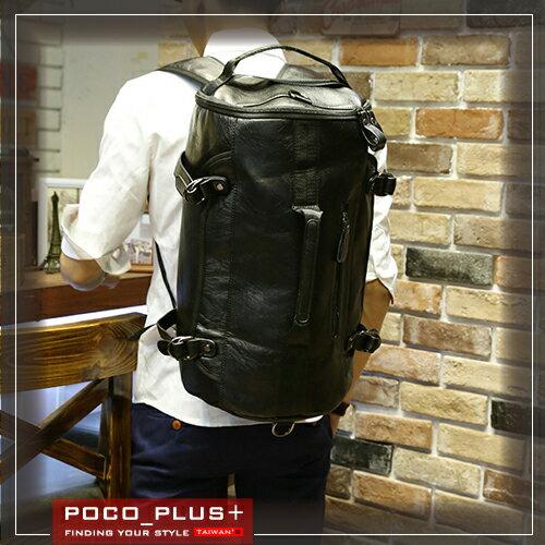 PocoPlus 潮流包 休閒款後背包 大容量 PU 包 旅行包 ~B627~