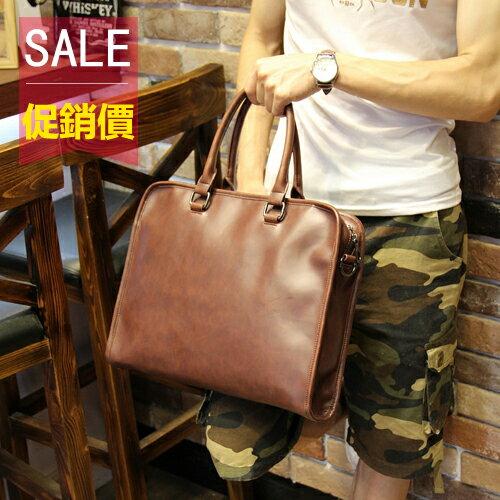 PocoPlus 韓版男士包包 時尚商務手提包 公事包 IPAD包 B740