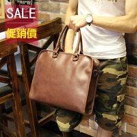 《全店399免運》PocoPlus 韓版男士包包 時尚商務手提包 公事包 IPAD包 B740 0