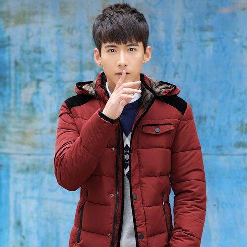 PocoPlus 男外套 羽絨製外套 韓式作風 保暖外套 防風外套 舖棉外套 輕羽絨外套 C049