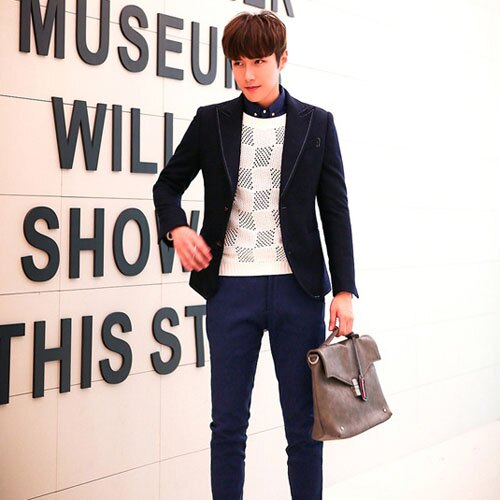 PoCo 韓式風格 西裝外套 簡約 羊毛呢西裝外套 羊毛英倫風西裝 下個歐巴就是你~C08