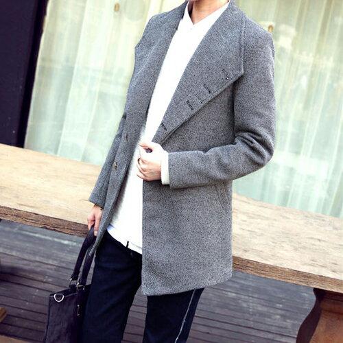 《全店399免運》PocoPlus 韓式風格 韓系外套 簡約時尚款 韓系長版大衣 風衣外套 軍裝外套 棒球【C242】