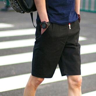 PocoPlus 新款夏季亞麻短褲 潮男必備 修身短褲 五分褲 海灘褲 M104
