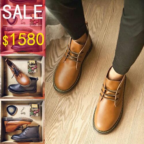 PocoPlus 真皮中高筒靴 英倫雅痞風格 Dr.Martens 馬丁Timberland  佛羅多最愛 增高鞋 完美車線 S032