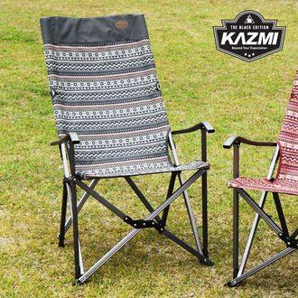 ├登山樂┤韓國 KAZMI 彩繪民族風豪華休閒折疊椅 # K7T3C003