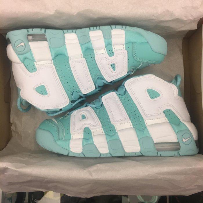 女鞋 BEETLE NIKE AIR MORE UPTEMPO GS 大AIR 蒂芬妮綠 湖水綠 415082-300 23 24 24.5 CM