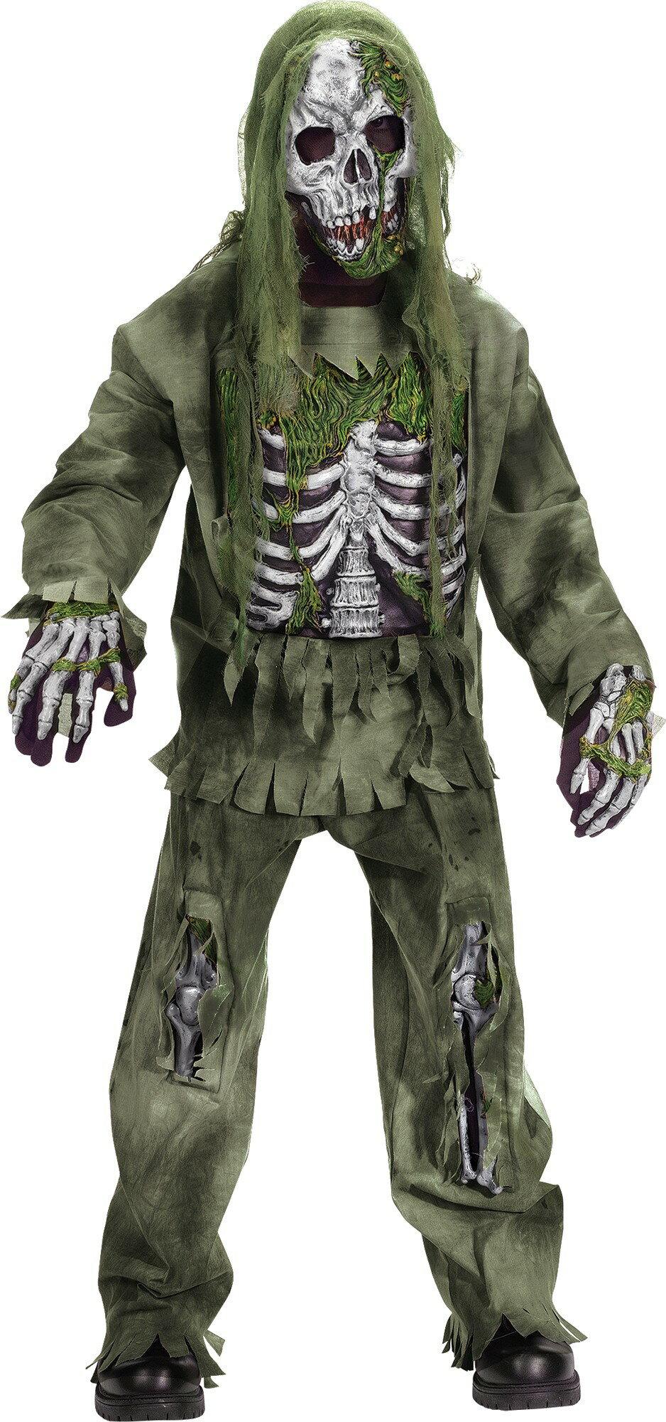 Fun World Boy's Skeleton Zombie Child Costume, Small
