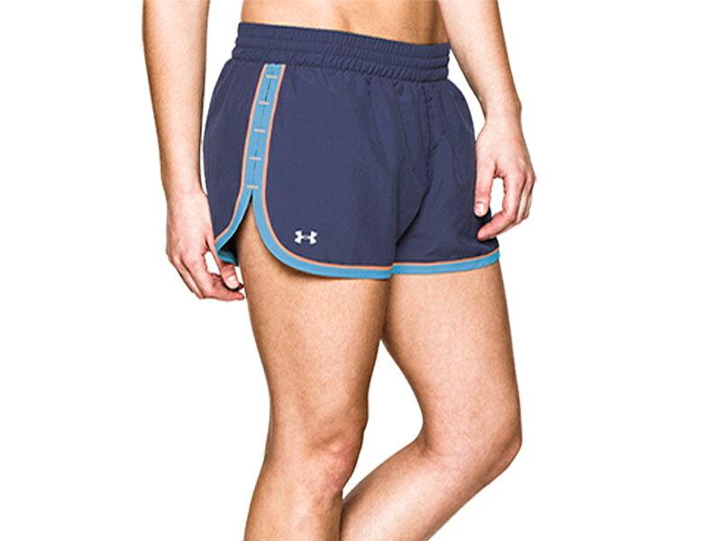 《UA出清5折》Shoestw【1237616-418】UNDER ARMOUR UA服飾 慢跑短褲 運動褲 深藍水藍 女生