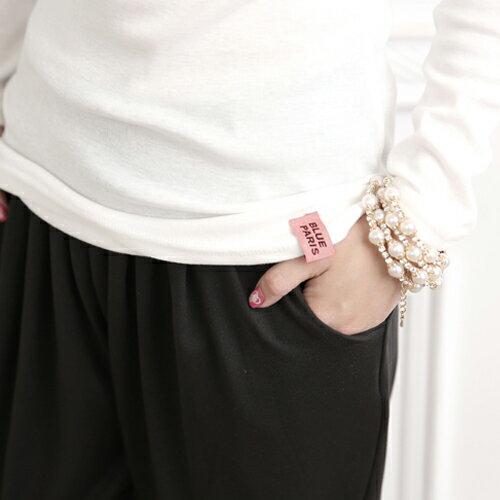 哈倫褲 – 立體抓摺口袋超彈性細軟冰絲寬鬆飛鼠褲休閒褲 【22A95】 藍色巴黎 ☛ 現貨 2