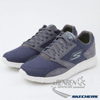 SKECHERS 男健走鞋 GO Walk City (海軍藍*灰 ) 懶人鞋 運動鞋