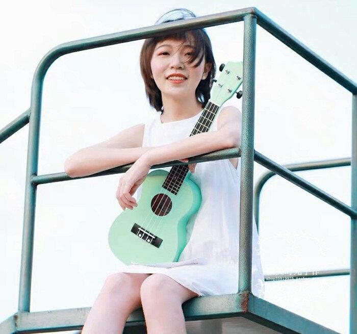 薄荷綠尤克里里女初學者烏克麗麗21寸23寸夏威夷四弦琴小吉他學生凱斯盾數位3C 交換禮物 送禮