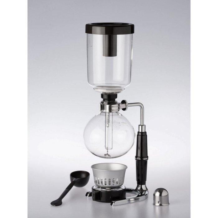 HARIO TCA-3虹吸壺 塞風壺 3人份 原裝日本製 附酒精燈、新型咖啡湯、濾器贈木調棒360ML