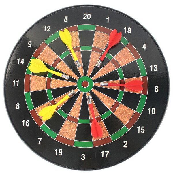 磁性飛鏢靶 磁鐵鏢針附6支 直徑34.5cm / 一個入(促450) 安全飛鏢盤 磁鐵飛鏢靶 磁鐵飛標盤-CF15162 1