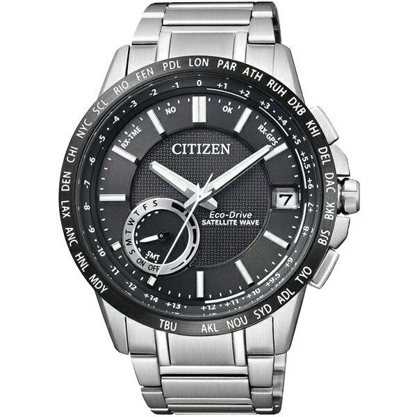 CITIZEN星辰CC3007-55E衛星GPS對時光動能腕錶/黑面44mm