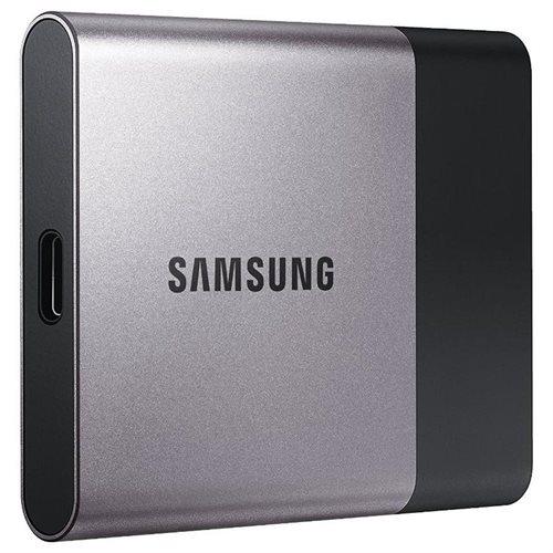 """Samsung T3 Portable 1TB SSD 1.0TB USB 3.1 External Solid State Drive MU-PT1T0B + 2.5"""" SSD case 2"""