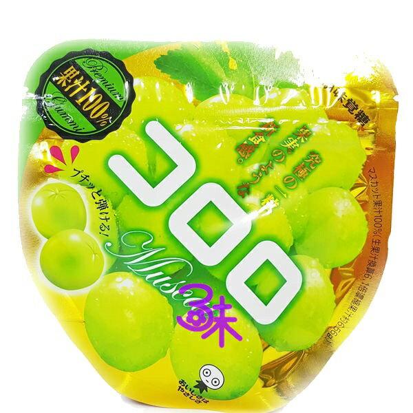 (日本) UHA  コロロ  味覺糖 Kororo葡萄軟糖-白葡萄 1組 6包 ( 40公克*6包) 特價  345 元 (平均1包 57.5元) 最新到櫃【 4902750627222】( 味覺可洛洛Q糖 KORORO極鮮QQ軟糖  )