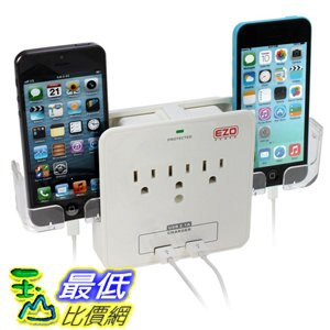 <br/><br/>  [106美國直購] EZOPower UL 插座 Certified Wall Mount Power Surge Protector with 3 AC Outlet Plug<br/><br/>