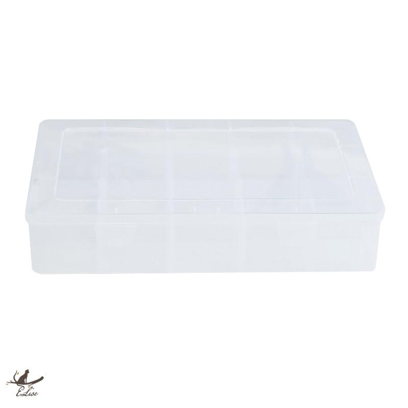 【ELise】15格透明收納盒 飾品收納盒 紙膠帶收納盒 文具收納盒
