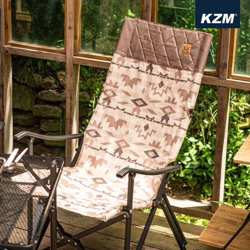KAZMI KZM 軍事風豪華休閒折疊椅(沙漠)