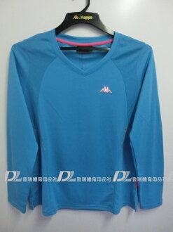 【登瑞體育】KAPPA女生長袖排汗V領T恤-FA36F0375