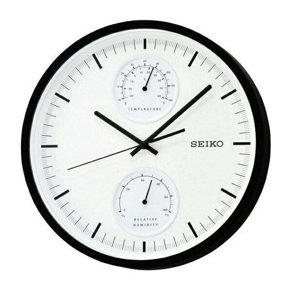 時鐘SEIKO溫度濕度滑動式秒針掛鐘【NV85】原廠公司貨