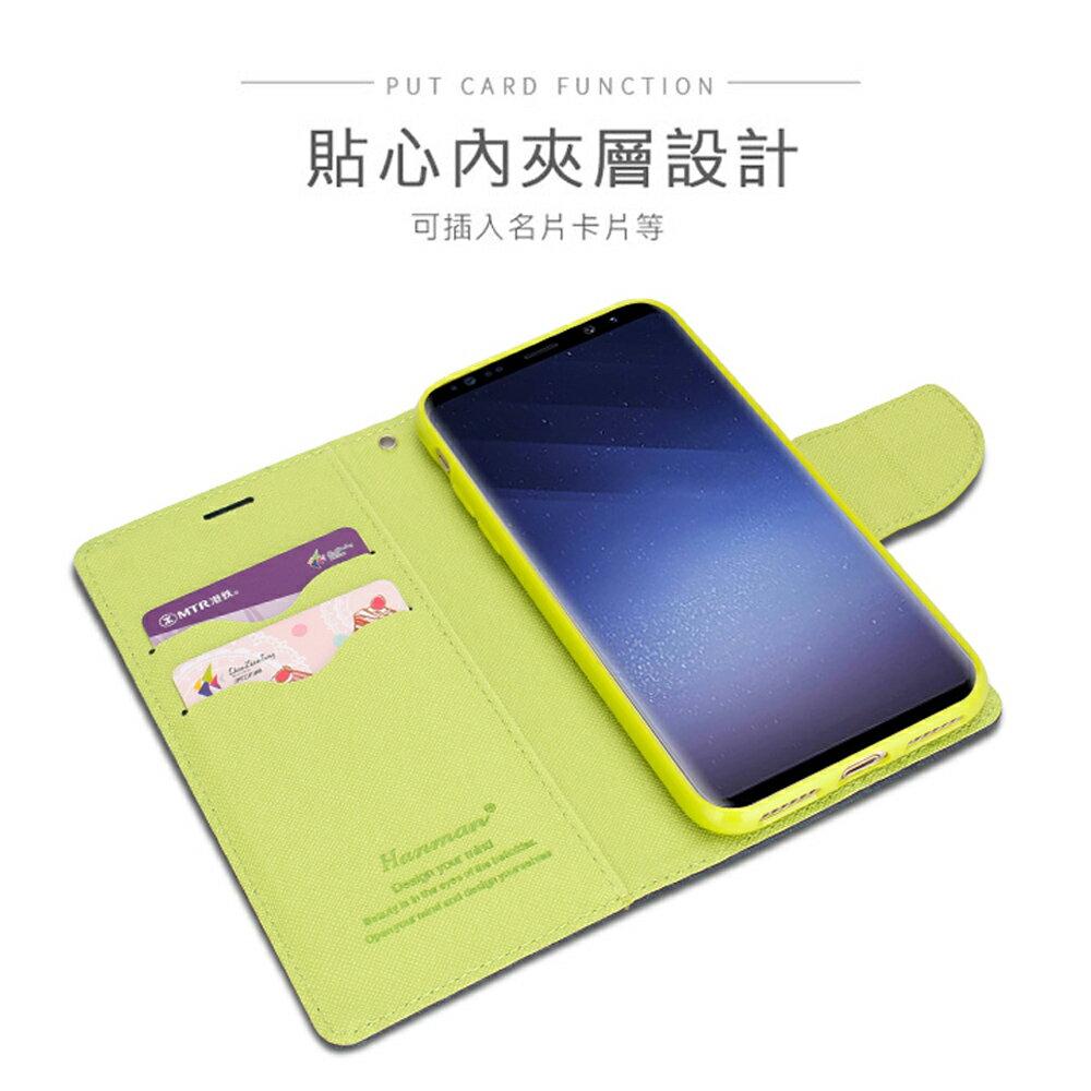Samsung Galaxy S10e (5.8 吋) 馬卡龍雙色手機皮套 撞色側掀支架式皮套 矽膠軟殼 粉紅綠黑棕多色可選 3