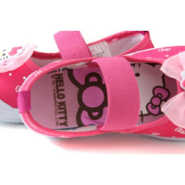 Hello Kitty 凱蒂貓 娃娃鞋 室內鞋 桃紅色 中童 童鞋 719818 no785 4