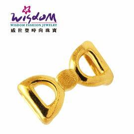 3D硬黃金立體千足金 蝴蝶結 0.4錢 手鍊 項鍊 推薦禮物