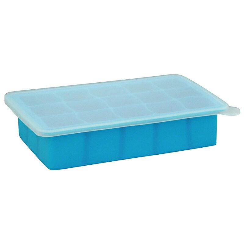 【愛寶貝】美國 green sprouts 寶寶副食品15格冷凍盒 製冰盒(不含BPA BPS、無PVC 安全塑膠)_藍色_GS185300-2