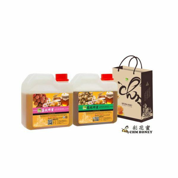 彩花蜜 台灣嚴選-荔枝蜂蜜 (LITCHI HONEY) 1200g+ 龍眼蜂蜜 (LONGAN HONEY) 1200g(促銷組合)【比漾廣場】