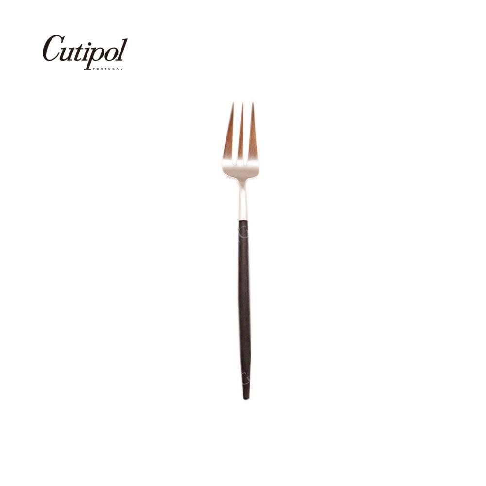 葡萄牙 Cutipol GOA系列17cm點心水果叉 (黑銀)