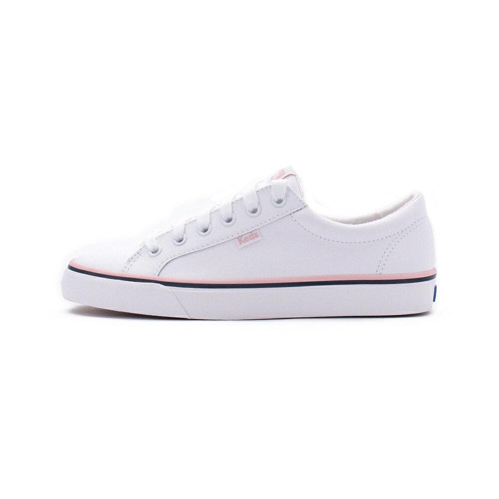 【限時8折】KEDS JUMP KICK 皮革綁帶休閒鞋 白/粉 9203W123118 女鞋