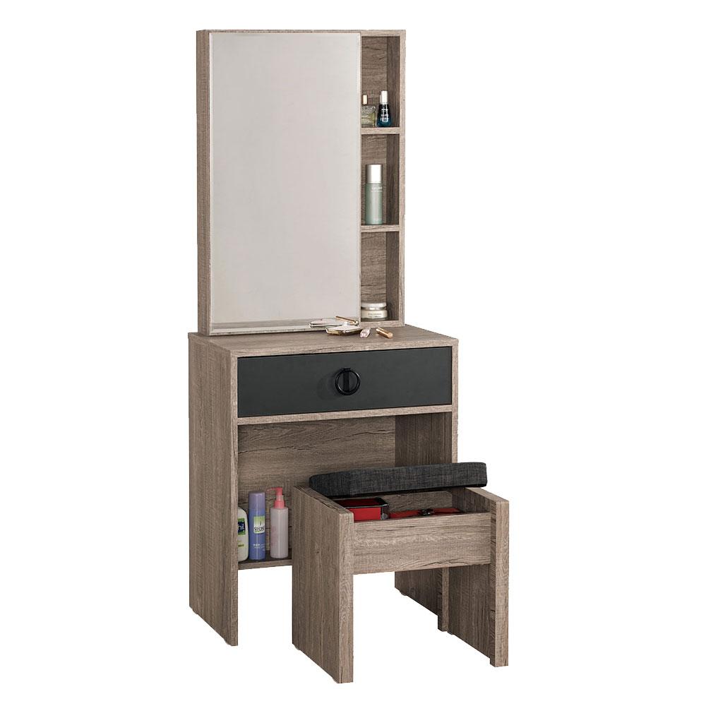 費納2尺化妝鏡台組(含椅)/H&D東稻家居-消費滿3千送點數10%