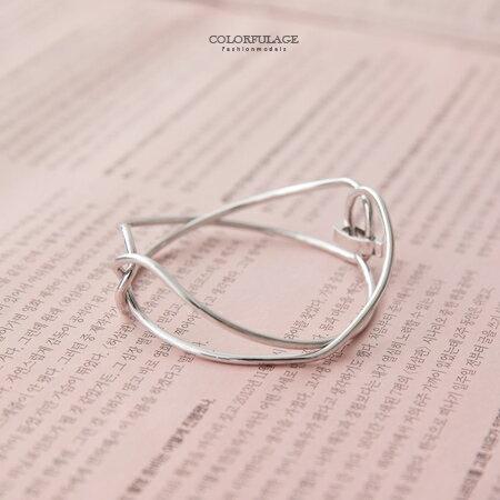 手環 幾何8字無限符號線條感環扣式手鍊 鏤空感呈現腕部美感 造型單品 柒彩年代【NA356】單條