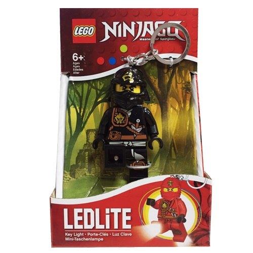 【 LEGO 樂高積木 】忍者人型 LED 燈鑰匙圈- 黑忍 寇