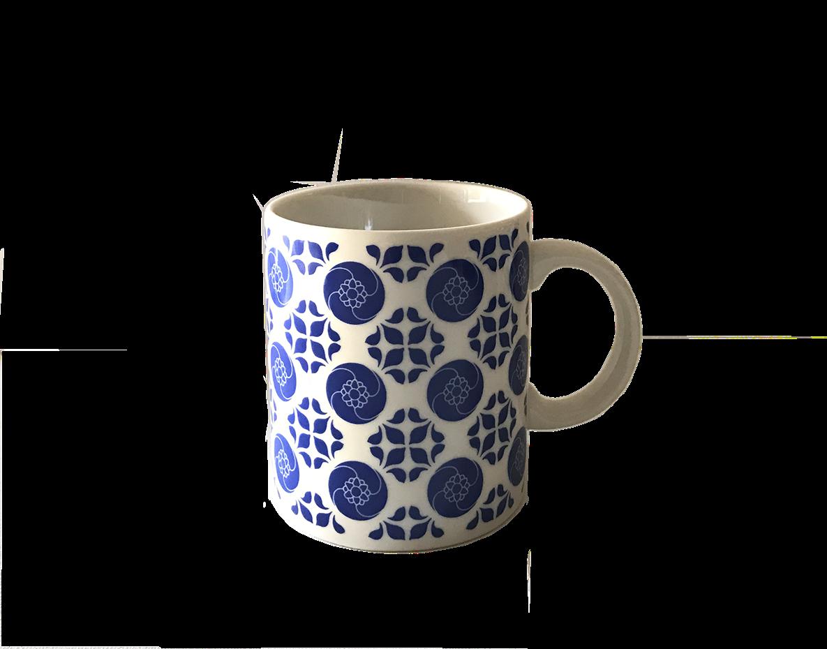 【捲毛力卡】青花馬克杯  380 ml  | 臺灣文創 花磚 精品 馬克杯  陶瓷馬克杯 水杯 青花 花磚 東方色彩