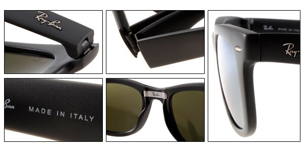 Ray Ban 雷朋 水銀鏡 霧黑 太陽眼鏡 RB4105 摺疊 7