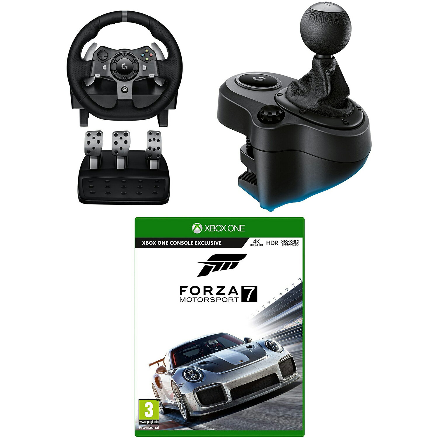 Logitech G920 Driving Force Wheel, Driving Force Shifter & Forza 7 - Xbox  One