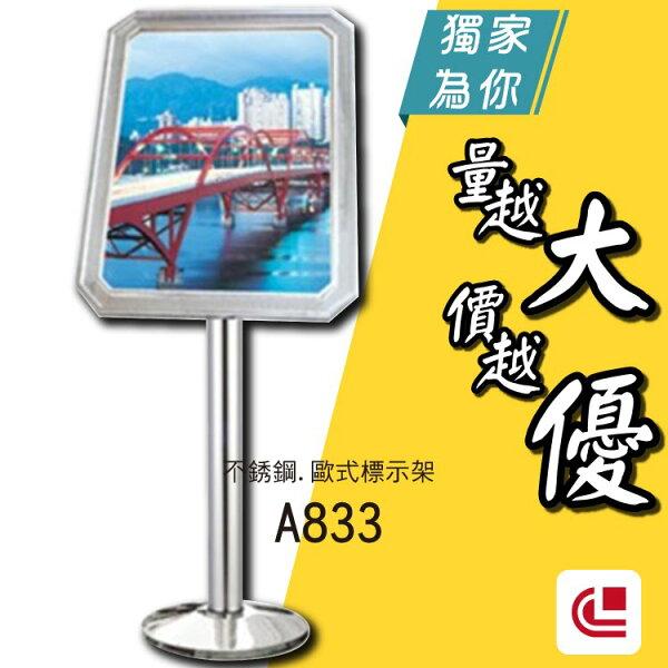 歐式不鏽鋼鍍鈦PVC標示牌A833標示告示招牌廣告公布欄旅館酒店俱樂部餐廳銀行MOTEL