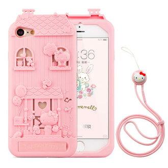 蘋果 Iphone 6 plus 法芘兔立體木屋貓咪帶掛繩透明女款防摔軟套 Fabitoo Iphone 6 plus 手機殼 保護套【預購】