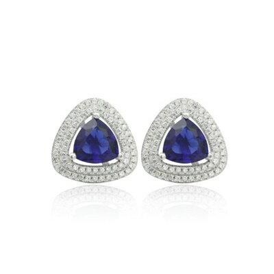 ~925純銀耳環鑲鑽耳飾~高貴大方 典雅情人節 女飾品2色73dm112~ ~~米蘭 ~