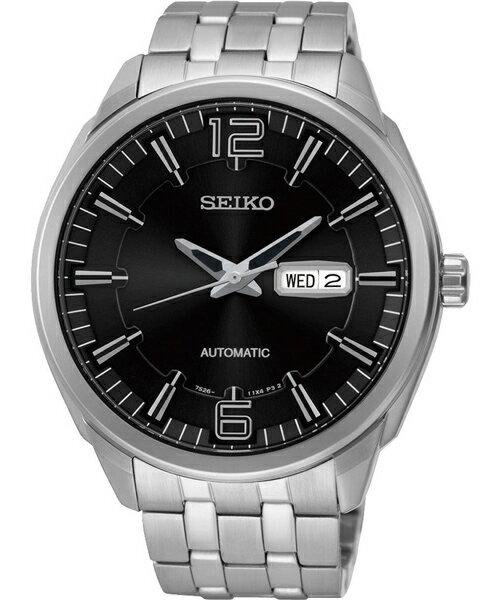 Seiko 精工五號 7S26~04H0D SNKN47J1 雙日曆 腕錶  黑面45mm