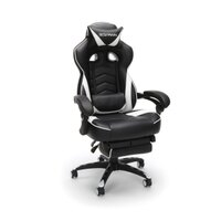 RESPAWN-110 Racing Style Gaming Chair - Reclining Ergonomic Leather Chair with Footrest, Office or Gaming Chair, White (RSP-110)