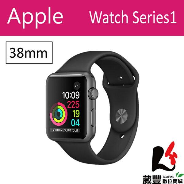 AppleWatchSeries138mm太空灰色鋁金屬錶殼搭配黑色錶帶【葳豐數位商城】