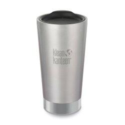 【【蘋果戶外】】Klean kanteen K16VSSC-BS 銀【保溫杯/16oz/473ml】美國 附杯蓋 不銹鋼保溫杯 啤酒杯 可利鋼杯
